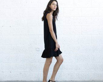 Halloween Sale Lace Up Peplum Dress, Black.