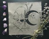 Lunar Patch- Screen Printed Fabric