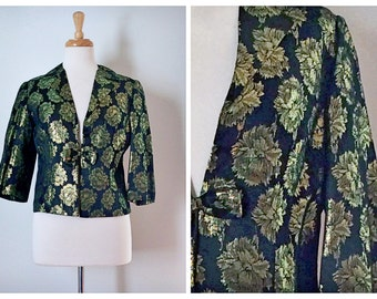 60s Black and Gold Lame Jacket