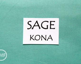 One Yard Sage Kona Cotton Solid Fabric from Robert Kaufman, K001-1321