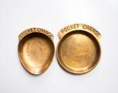 Pair of Brass Pocket Change Dish