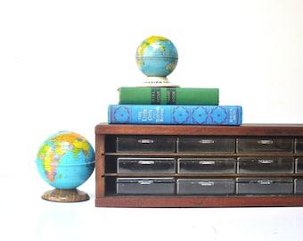 Vintage Desktop Wooden Storage Cabinet