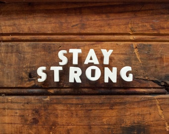 STAY STRONG - Vintage Ceramic Push Pins