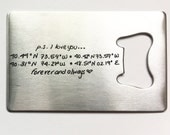 Custom Handwriting Bottle Opener - Personalized Wallet Card Beer Opener - Unique Gift for Fathers Day, Mothers Day, Gift from Kids