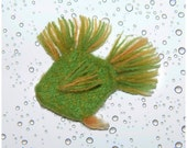 Cat Toy - Blooper - Organic Catnip Stuffed Fish  - Hand Knit Felted Wool - No polyfil, Pure Herb Stuffing