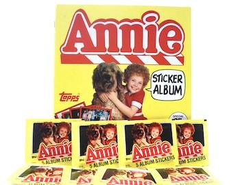 Annie Sticker Album & 10 Sticker Packs Unused Topps 1981