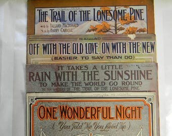 4 Antique Sheet Music, 1913 -1914