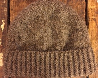 Brown Fisherman's Wool Hat