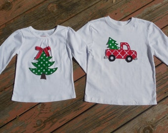 Brother and Sister Personalized Christmas Shirts