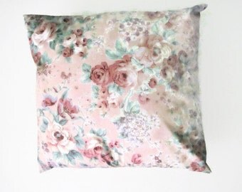 Pink Floral Pillow Cover  ON SALE