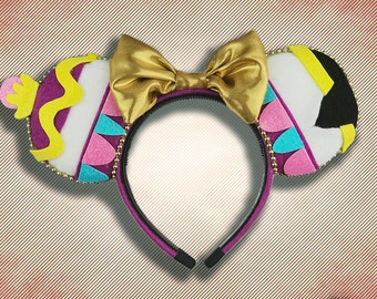 Enchanted Teapot and Cup Mouse Ear Headband with Bow