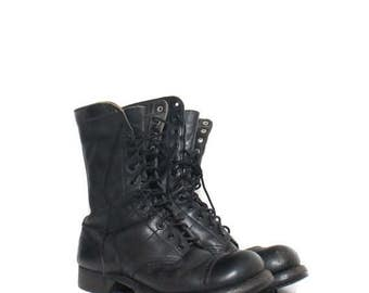 SALE 8 E (Wide) | Men's Vintage 1960's Corcoran Combat Boots Lace Up Cap Toed Military Jump Boot