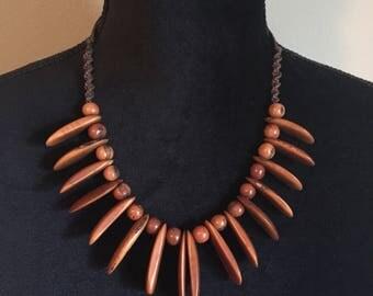 Natural Tagua and Acai Seed Necklace - Macrame- Eco-friendly, Boho Jewelry, Boho chic