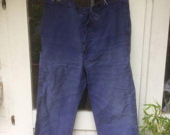 Antique French moleskin trousers