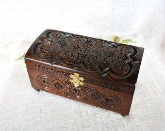 Jewelry box Wooden jewelry box Wooden box Ring box Wedding jewelry box Jewelry wooden box Jewelry ring box Jewelry organizer Wooden ring B9
