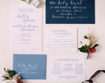 Kelly & Andrew Wedding Invitations
