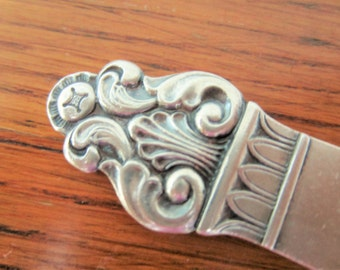 Vintage serving spoon in Electroplated Nickel Silver by Th Marthinsen Norway