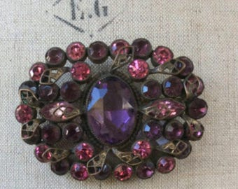 Vintage Gorgeous Czech Brooch
