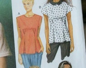 UNCUT Butterick Fast & Easy Top or Tunic with Tuck Variations B5890 5890 Sewing Pattern Size 14 16 18 20 22 Bust 36 -  44