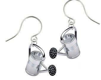 Sterling Silver Watering Can Earrings for Gardeners The Potting Shed