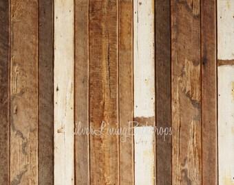 NEW Floordrop 8ft x 7ft VINYL Photography Backdrop / PAYTON Mixed Wood