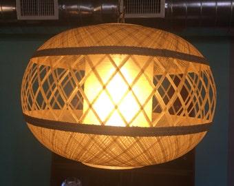 Vintage 1960s Spun Fiberglass Saucer Swag Lamp