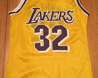 Vintage Los Angles Lakers Magic Johnson Yellow Champion Jersey