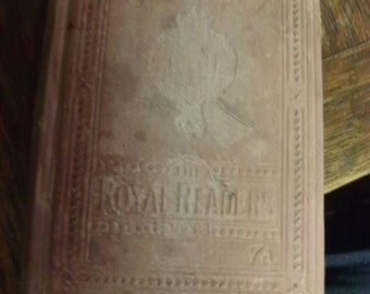 Free Shipping - Antique Short Stories Book - English Primer - Found in France