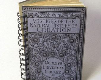 1887 NATURAL HISTORY Handmade Journal Vintage Upcycled Book