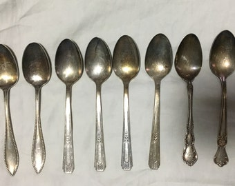 8 Silver Plated Spoons