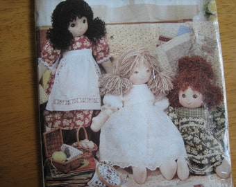 Vogue Doll Collection Pattern P618 Rag Doll & Clothes     2001      Uncut