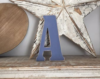 Wooden Wall Letter 'A'  - Bernard Style Font, various sizes, colours and finishes available, initial, monogram, 9mm thick
