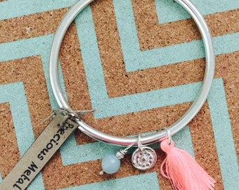 Sterling Silver Dangle Bracelet