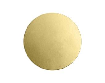 "1"" Brass Circle Stamping Blank, 24 gauge, Choose Quantity, Bulk Quantity Available, Metal Stamping Blank, Hand Stamped Jewelry Supplies"