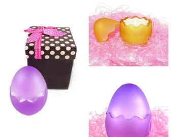 Easter Egg Spring Soy Candle - Choose Scent - Gift Box- Handmade Natural Vegan Soy Wax Candle