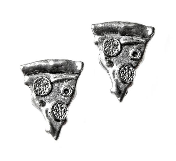 Pizza Cufflinks - Gifts for Men - Anniversary Gift - Handmade - Gift Box Included