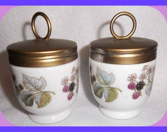 Royal Worcester EGG CODDLERS Pair Type 9 Porcelain Lavinia Pattern Vintage