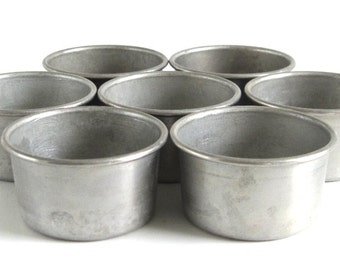 West Bend Aluminum Co Individual Baking Cups, Custard Cups, Tart Molds, Muffin Tin Popover Pans, Bakeware Inserts