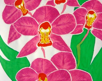 Artwork floral pink flower watercolour