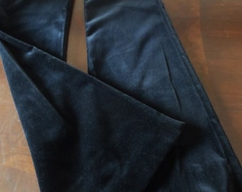 THEORY Black Velvet Pants Contemporary Designer Fashion Size 8 Women's Clothing