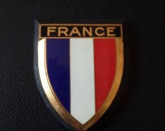 Vintage Drago France Car Emblem Enamel Metal Auto Accessory French Car Badge