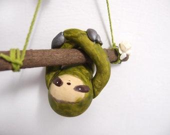 ooak Hand-made sloth ornament 44