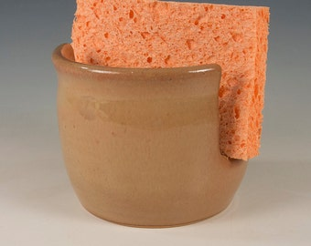 Sponge Holder with beautiful golden brown glaze by Seiz Pottery