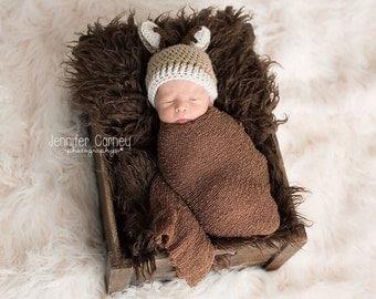 Crochet Deer Hat, Baby Deer Hat, Baby Boy Deer Hat, Baby Girl Deer Hat, Deer Hat, Deer Beanie, Newborn Deer Hat, Baby Deer Photography Prop