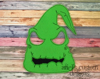 Oogie Boogie Mask - Nightmare Before Christmas Party  - Felt Dress Up Masks - Birthday Party Favor Halloween