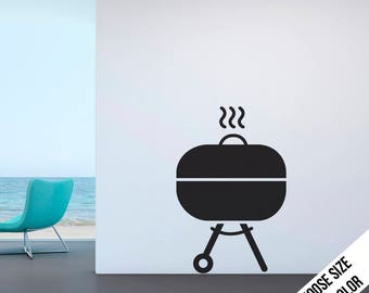 BBQ Wall Decal - Cooking Decoration, Chef - Vinyl Sticker