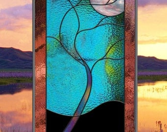 Stained Glass Moonlit Tree • Ready to Ship