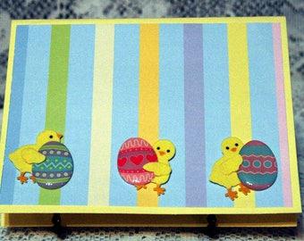 Three Chicks Easter Card  20170113