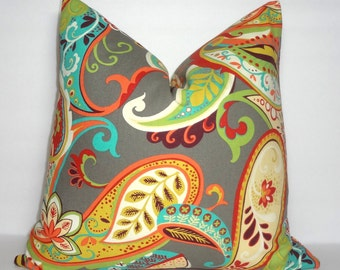Covington Whimsy Multi-color Paisley Print Pillow Cover Decorative Throw Pillow Cover Choose Size