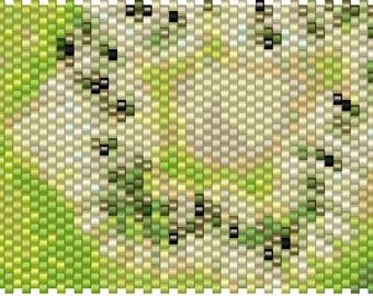 Kiwi Peyote Cuff Pattern